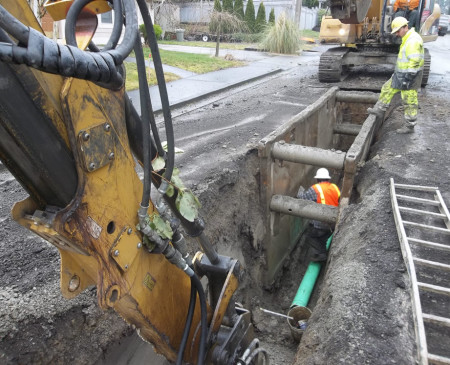 Fibre Optic Cable replacement project in Red Rock, British Columbia.